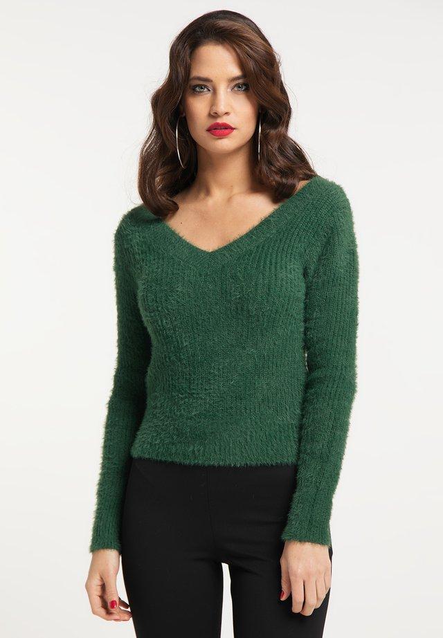 Pullover - dunkelmoos