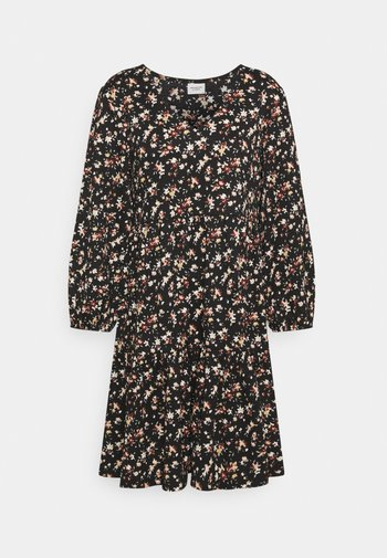 JDYCLAUDE VNECK DRESS - Kjole - black