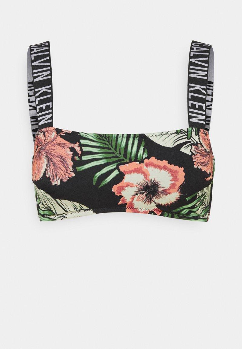 Calvin Klein Swimwear - INTENSE POWER BANDEAU PRINT - Horní díl bikin - black