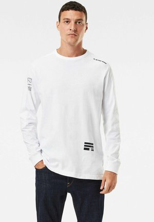 MULTI LOGO KORPAZ - Long sleeved top - white