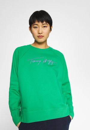 RELAXED SCRIPT - Mikina - primary green