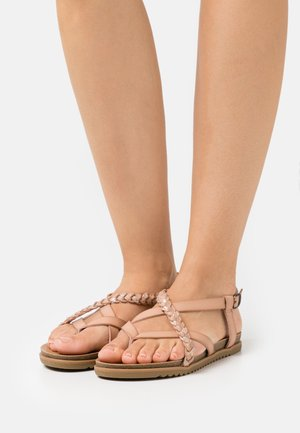 T-bar sandals - blush/multicolor