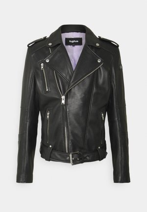 BONE - Leather jacket - black