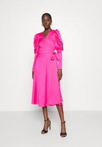 Cras - ALMACRAS WRAP DRESS - Day dress - shocking pink - 0