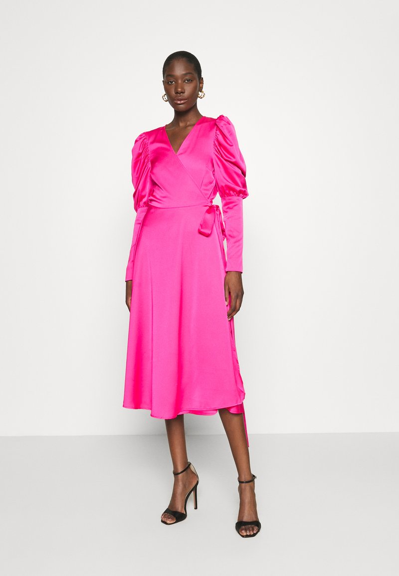 Cras - ALMACRAS WRAP DRESS - Day dress - shocking pink