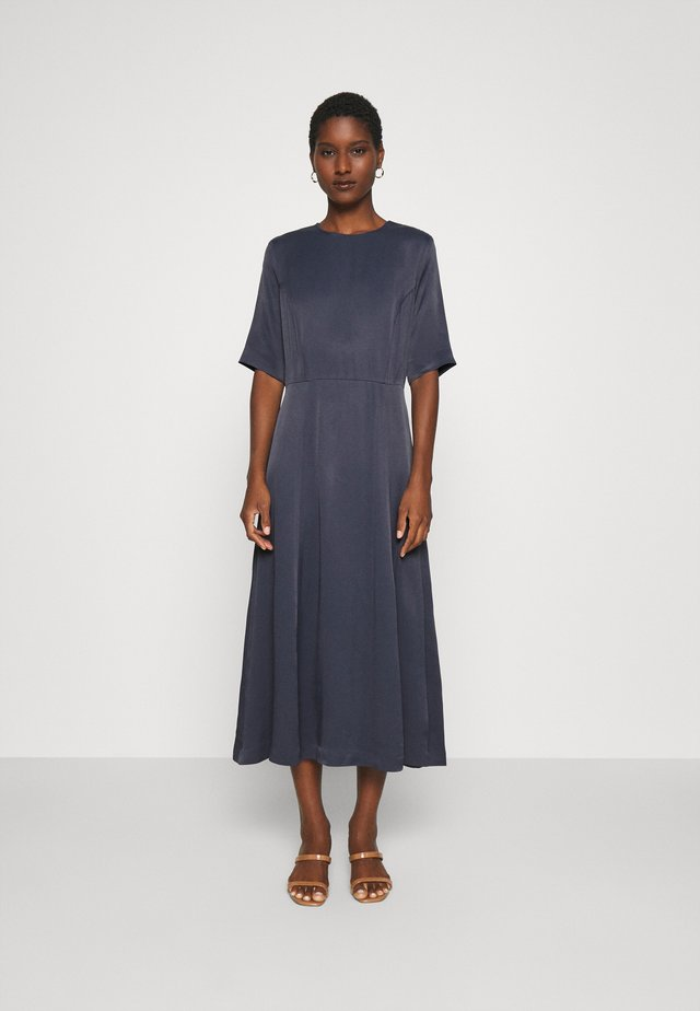 Day dress - graphite blue