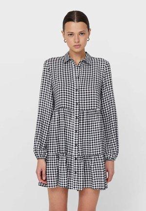 MIT KAROMUSTER  - Košilové šaty - black