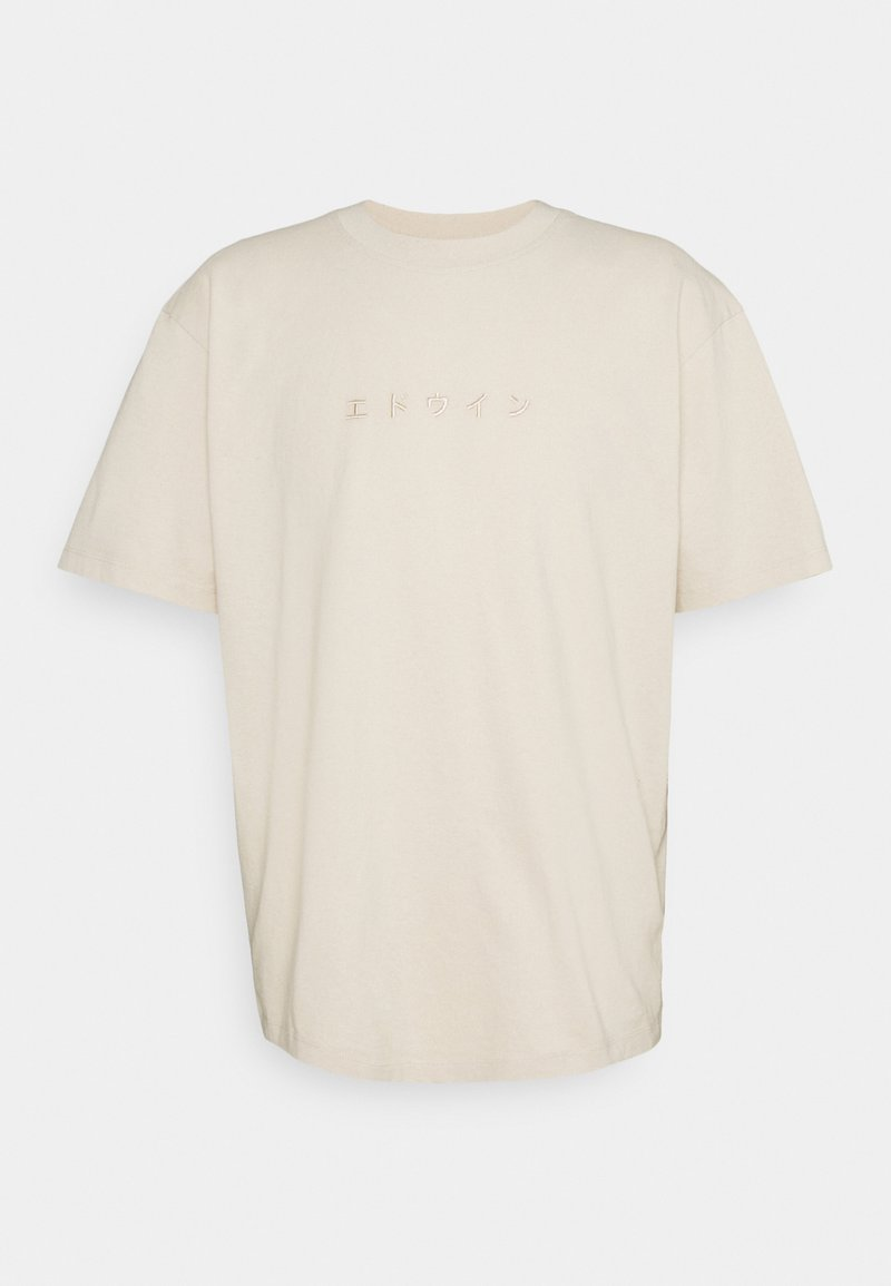 Edwin - KATAKANA EMBROIDERY UNISEX  - T-shirt basique - beige