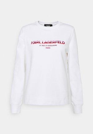 GRAPHIC LOGO - Sweatshirt - white