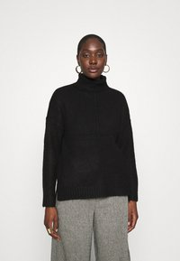 Zign - Long line seam detail - Jumper - black - 0