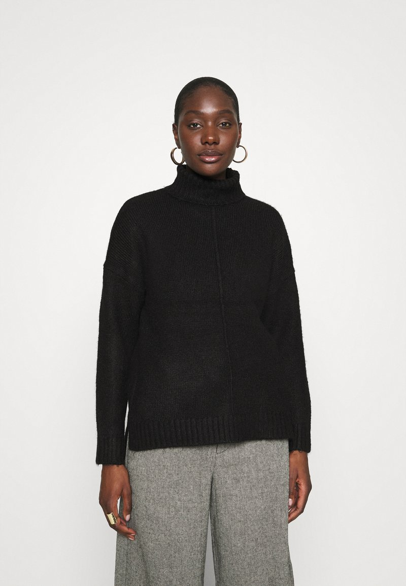 Zign - Long line seam detail - Jumper - black