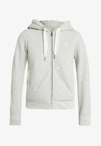 Abercrombie & Fitch - LINED LOGO FULL ZIP - Zip-up hoodie - grey - 3