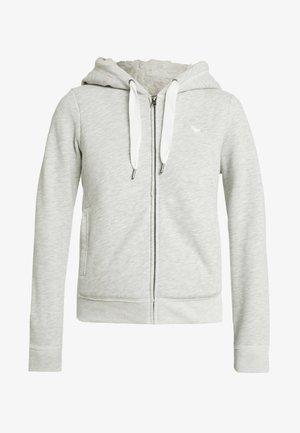LINED LOGO FULL ZIP - Zip-up hoodie - grey