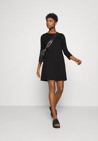 Vero Moda - VMEVA 3/4 SLEEVE SHORT DRESS - Jumper dress - black - 1