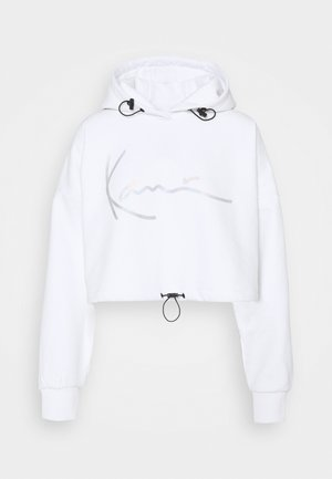 SIGNATURE CROPPED - Hoodie - white