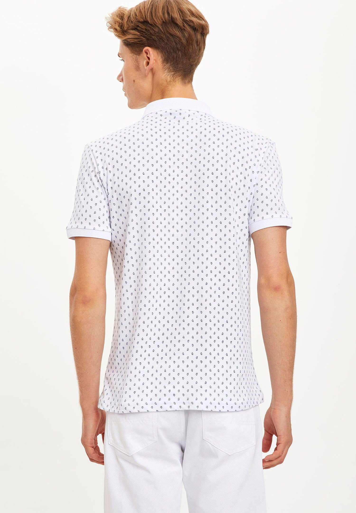 DeFacto Polo shirt - white FCYCH