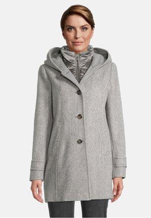 Down coat - grey/cream