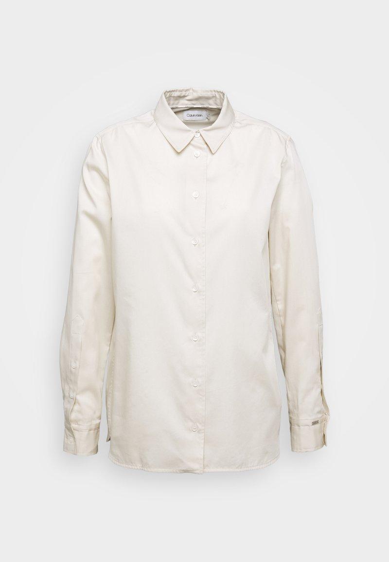 Calvin Klein - OXFORD YAX - Button-down blouse - white