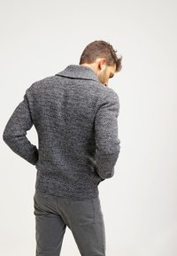 Pier One - Strikjakke /Cardigans - dark grey melange - 2