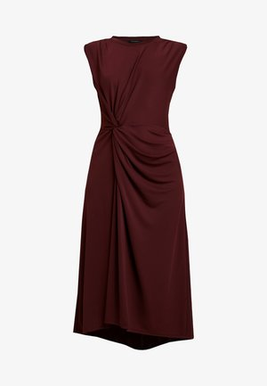 TWIST MATTE DRESS SOLIDS - Jersey dress - burgundy