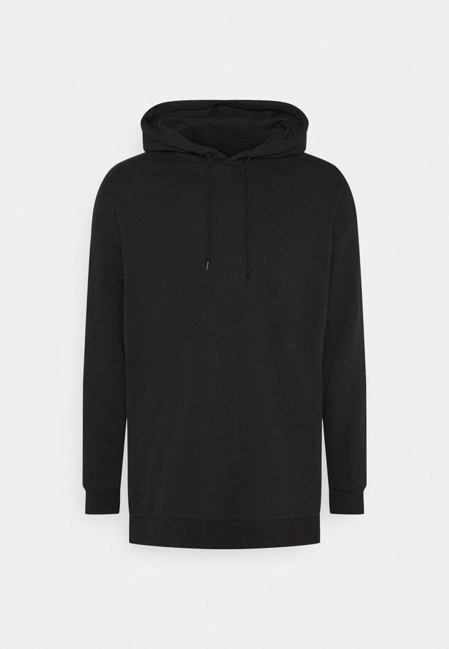 LONGLINE UNI HOODIE  - Sweatshirt - black