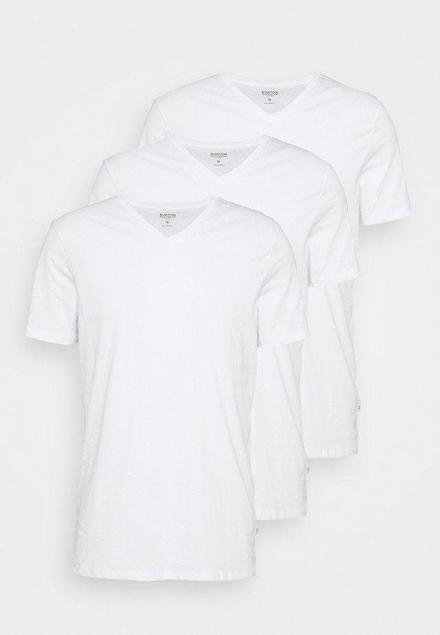 3 PACK - Basic T-shirt - white