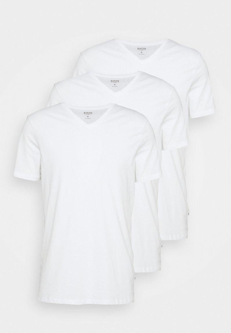 Burton Menswear London - 3 PACK - T-shirt basic - white