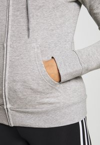 adidas Performance - Sudadera con cremallera - grey/white - 3