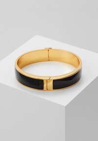 Tory Burch - RAISED LOGO THIN HINGED BRACELET - Armband - black/gold-coloured - 2