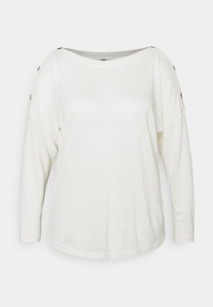 PCNOLLIE O NECK - Long sleeved top - cloud dancer