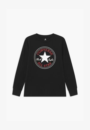 CHUCK PATCH LONG SLEEVE TEE UNISEX - Top s dlouhým rukávem - black