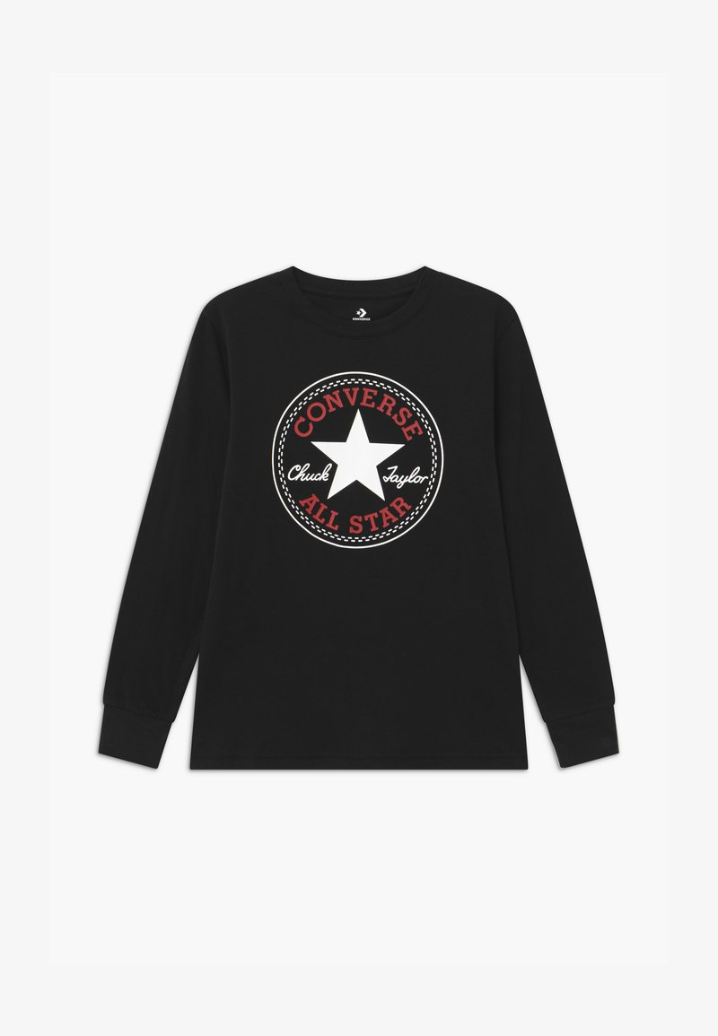 Converse - CHUCK PATCH LONG SLEEVE TEE UNISEX - Camiseta de manga larga - black