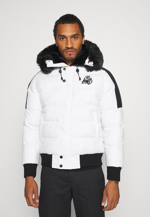 PUFFER BOMBER JACKET - Giacca invernale - white
