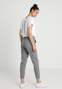 Object - OBJCECILIE - Kangashousut - medium grey melange - 2