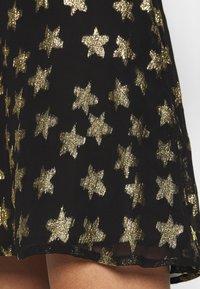 Fabienne Chapot - LOT SKIRT - Mini skirt - black/gold - 5