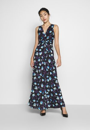 MAXI WITH TWIST - Vestito lungo - black / blue