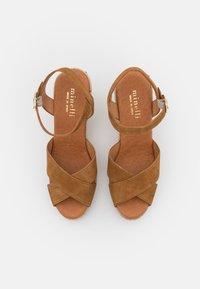 Minelli - Sandały na platformie - tan - 5