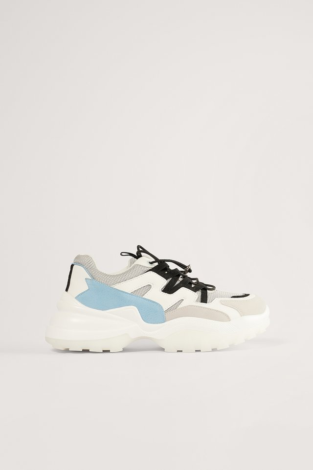 CHUNKY TRAINERS - Sneakers laag - white/blue