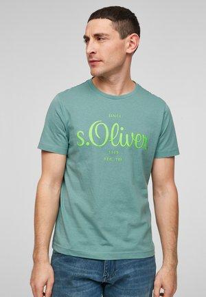 MIT LABEL-PRINT - Print T-shirt - light green