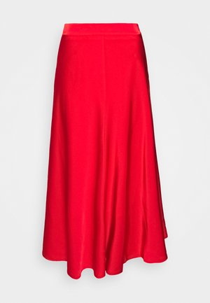 SKIRT SEAMS - A-line skirt - red