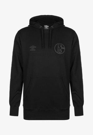 FC SCHALKE 04 TAPED HERREN - Hoodie - black