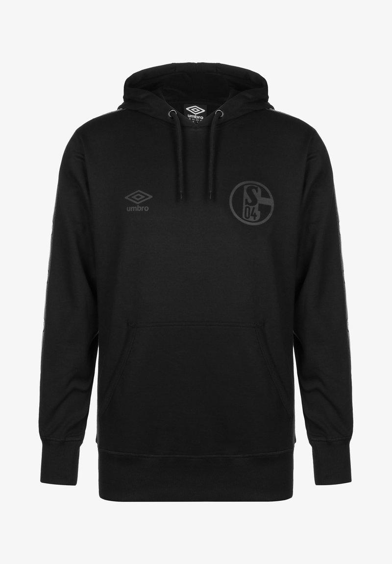 Umbro - FC SCHALKE 04 TAPED HERREN - Hoodie - black