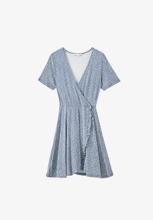 Korte jurk - stone blue denim