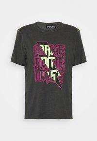 PCNOISE TEE  - Print T-shirt - black/washed