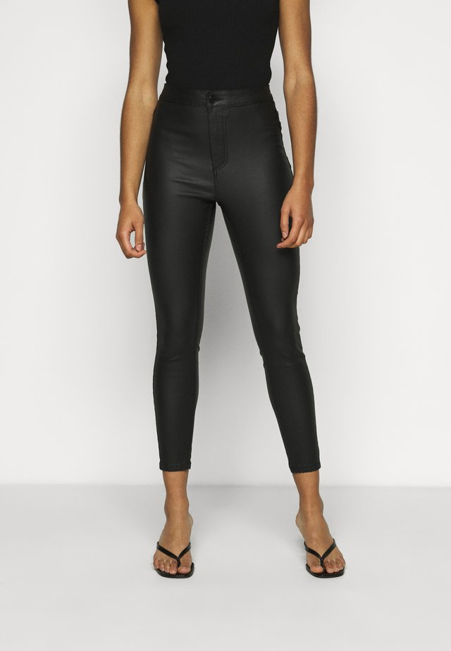 VMJOY SKINNY COATED PANTS - Broek - black