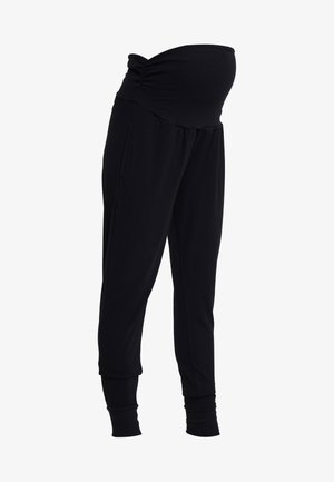 DROP CROTCH STUDIO PANT - Verryttelyhousut - black