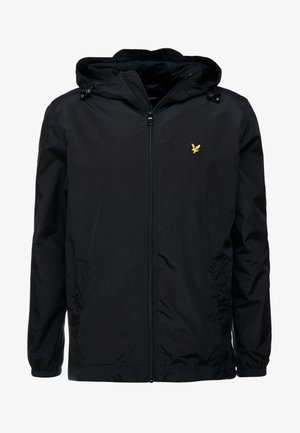 ZIP THROUGH HOODED JACKET - Leichte Jacke - jet black