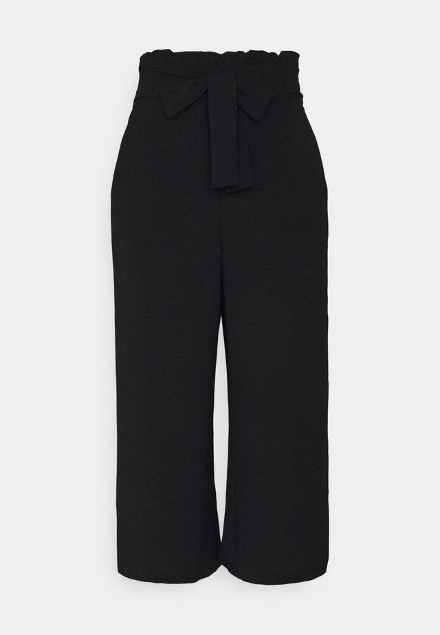 VIRASHA CROPPED WIDE PANT - Kalhoty - black
