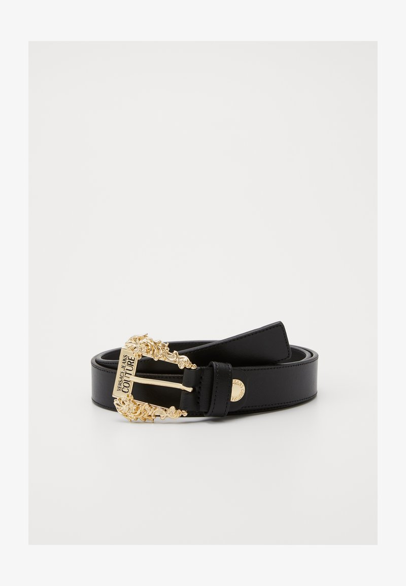 Versace Jeans Couture - BAROQUE BUCKLE REGULAR - Pasek - nero