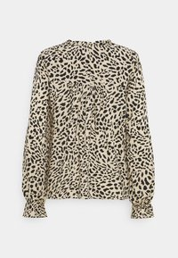 b.young - BYIDRA BLOUSE - Long sleeved top - cement - 1
